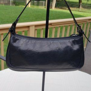 Kenneth Cole Small Shoulder Bag Black Leather Very